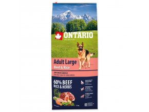 ONTARIO Dog Adult Large Beef & Rice-12kg