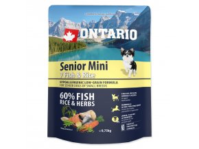 ONTARIO Senior Mini Fish & Rice-0,75kg