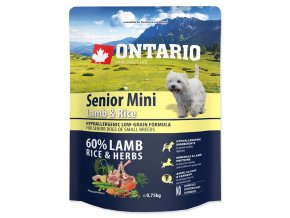ONTARIO Senior Mini Lamb & Rice-0,75kg