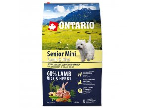 ONTARIO Senior Mini Lamb & Rice-6,5kg