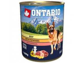Konzerva ONTARIO Dog Beef, Potatos and Sunflower Oil-800g