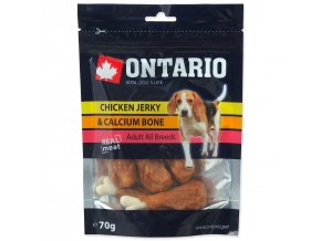 Snack ONTARIO Dog Chicken Jerky + Calcium-70g