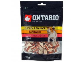 Snack ONTARIO Dog Chicken Jerky Sandwich-70g