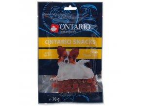 Snack ONTARIO Dog Duck Dice Small dog-70g