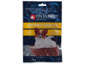Snack ONTARIO Dog Duck Dice Small dog-70g