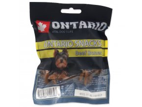 Snack ONTARIO Dog Rawhide Bone 7,5 cm-5ks