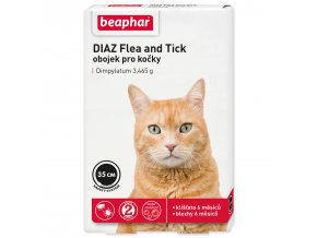 Obojek antiparazitní BEAPHAR DIAZ Flea and Tick 35 cm-1ks