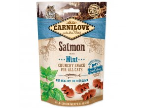 CARNILOVE Cat Crunchy Snack Salmon with Mint with fresh meat-50g