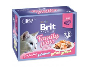 Kapsičky BRIT Premium Cat Delicate Fillets in Jelly Family Plate-1020g