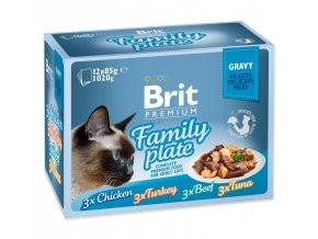 Kapsičky BRIT Premium Cat Delicate Fillets in Gravy Family Plate-1020g