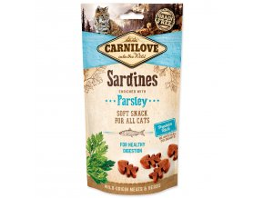 CARNILOVE Cat Semi Moist Snack Sardine enriched with Parsley-50g