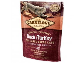 CARNILOVE Duck and Turkey Large Breed Cats Muscles, Bones, Joints-400g