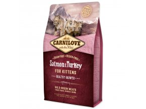 CARNILOVE Salmon and Turkey Kittens Healthy Growth-2kg
