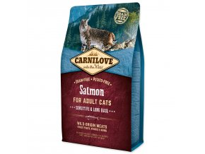 CARNILOVE Salmon Adult Cats Sensitive and Long Hair-2kg