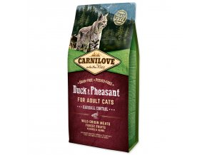 CARNILOVE Duck and Pheasant Adult Cats Hairball Control-6kg