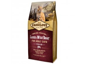 CARNILOVE Lamb and Wild Boar Adult Cats Sterilised-6kg