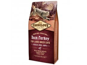 CARNILOVE Duck and Turkey Large Breed Cats Muscles, Bones, Joints-6kg