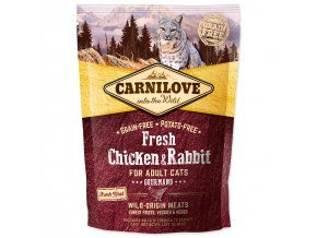 CARNILOVE Fresh Chicken & Rabbit Gourmand for Adult cats-400g