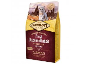 CARNILOVE Fresh Chicken & Rabbit Gourmand for Adult cats-2kg