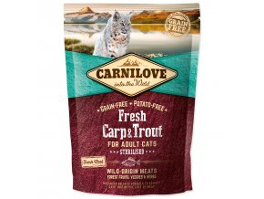 CARNILOVE Fresh Carp & Trout Sterilised for Adult cats-400g