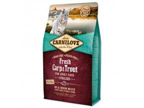CARNILOVE Fresh Carp & Trout Sterilised for Adult cats-2kg