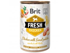 Konzerva BRIT Fresh Chicken with Sweet Potato-400g