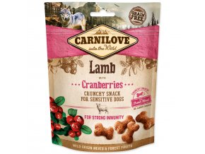 CARNILOVE Dog Crunchy Snack Lamb with Cranberries with fresh meat-200g