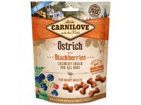 CARNILOVE Dog Crunchy Snack Ostrich with Blackberries with fresh meat-200g