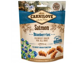CARNILOVE Dog Crunchy Snack Salmon with Blueberries with fresh meat-200g