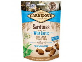 CARNILOVE Dog Semi Moist Snack Sardines enriched with Wild garlic-200g