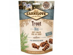 CARNILOVE Dog Semi Moist Snack Trout enriched with Dill-200g