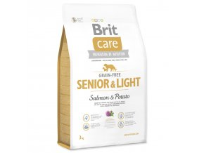 BRIT Care Grain-free Senior & Light Salmon & Potato-3kg