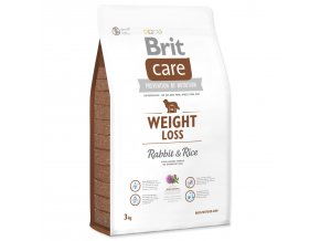 BRIT Care Dog Weight Loss Rabbit & Rice-3kg