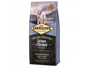 CARNILOVE Salmon & Turkey for Puppies-12kg