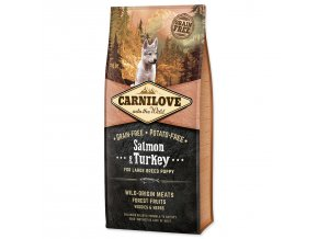 CARNILOVE Salmon & Turkey for Large Breed Puppy-12kg