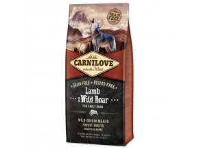 CARNILOVE Lamb & Wild Boar for Dog Adult-12kg