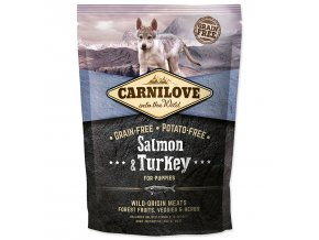 CARNILOVE Salmon & Turkey for Puppies-1,5kg