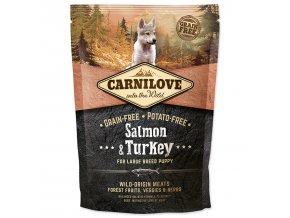 CARNILOVE Salmon & Turkey for Large Breed Puppy-1,5kg
