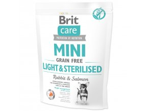 BRIT Care Dog Mini Grain Free Light & Sterilised-400g