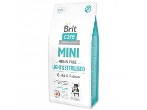 BRIT Care Dog Mini Grain Free Light & Sterilised-7kg