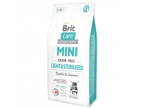 BRIT Care Dog Mini Grain Free Light & Sterilised-7kg