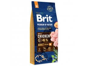 BRIT Premium by Nature Adult M-15kg
