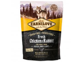 CARNILOVE Fresh Chicken & Rabbit Muscles, Bones & Joints for Adult dogs-1,5kg