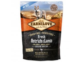 CARNILOVE Fresh Ostrich & Lamb Excellent Digestion for Small Breed Dogs-1,5kg