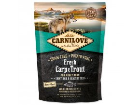 CARNILOVE Fresh Carp & Trout Shiny Hair & Healthy Skin for Adult dogs-1,5kg