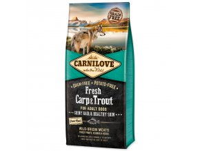 CARNILOVE Fresh Carp & Trout Shiny Hair & Healthy Skin for Adult dogs-12kg