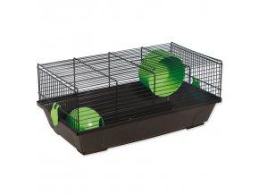 Klec SMALL ANIMALS Viktor černá se zelenou výbavou-1ks