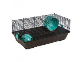 Klec SMALL ANIMALS Viktor černá s modrou výbavou-1ks