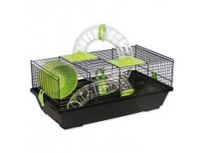 Klec SMALL ANIMALS Libor černá se zelenou výbavou-1ks