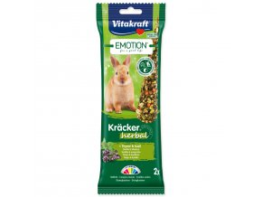 Tyčinky VITAKRAFT Emotion Kracker králík herbal-112g